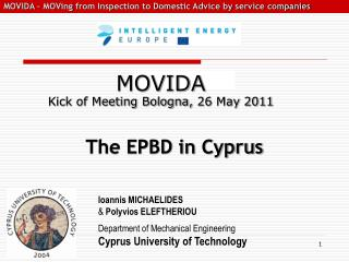 The EPBD in Cyprus