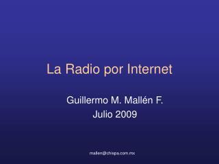 La Radio por Internet