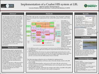 Implementation of a Cuahsi HIS system at LBL Nigel W. T. Quinn, Christian Pedersen Lawrence Berkeley National Laborator