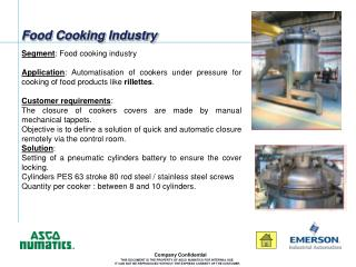 Food Cooking Industry