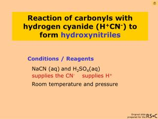 Conditions / Reagents