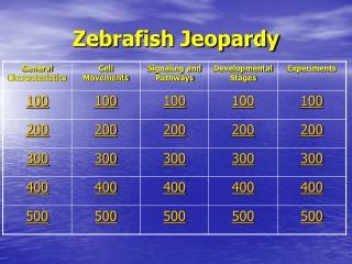 Zebrafish Jeopardy