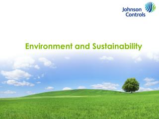 Environment and Sustainability