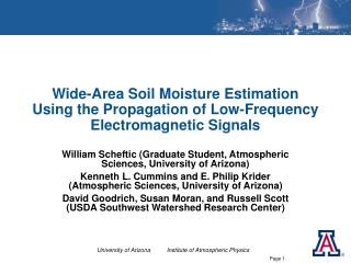 Wide-Area Soil Moisture Estimation Using the Propagation of Low-Frequency Electromagnetic Signals