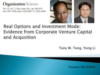 Real Options and Investment Mode: Evidence from Corporate Venture Capital and  Acqusition