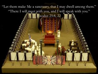 Let them make Me a sanctuary, that I may dwell among them.   There I will meet with you, and I will speak with you.   E