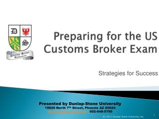 Preparing for the US Customs Broker Exam