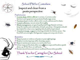 School IPM for Custodians