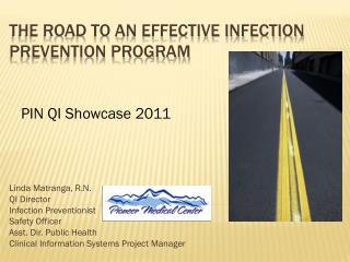 The Road to an effective infection Prevention program