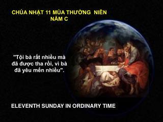 CHÚA NHẬT 11 MÙA THƯỜNG  NIÊN NĂM C