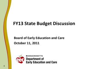 FY13 State Budget Discussion