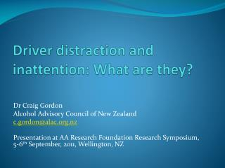 Driver distraction and inattention: What are they?