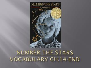 Number the Stars  Vocabulary Ch.14-end