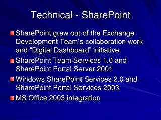 Technical - SharePoint