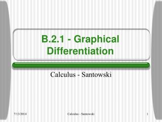 B.2.1 - Graphical Differentiation
