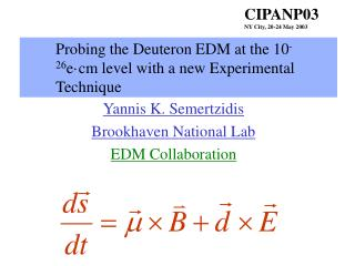 Probing the Deuteron EDM at the 10 -26 e ·cm level with a new Experimental Technique