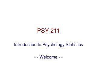 PSY 211
