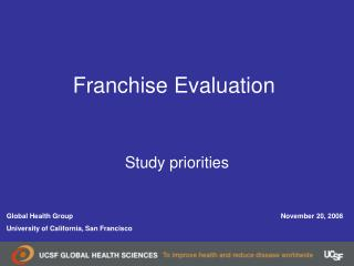 Franchise Evaluation