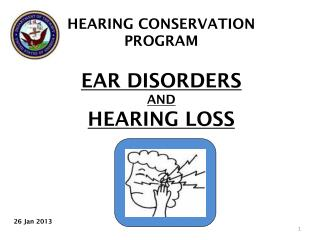 HEARING CONSERVATION PROGRAM EAR DISORDERS  AND HEARING LOSS