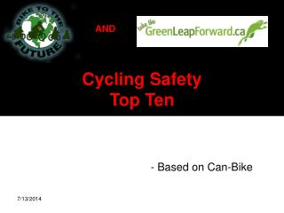 Cycling Safety  Top Ten