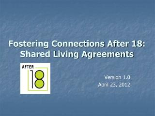 Fostering Connections After 18:  Shared Living Agreements