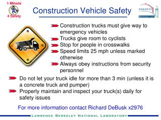 Construction Vehicle Safety