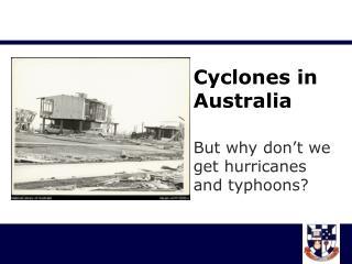 Cyclones in Australia