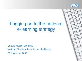 Logging on to the national  e-learning strategy