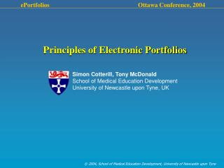 Principles of Electronic Portfolios