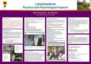 Lymphoedema Physical and Psychological Aspects