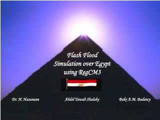 Flash Flood  Simulation over Egypt using RegCM3