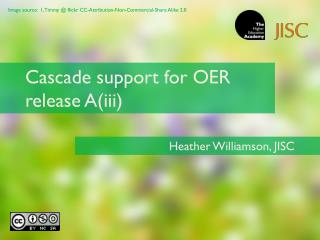 Cascade support for OER release A(iii)