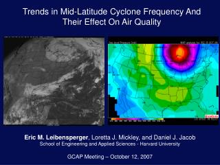Trends in Mid-Latitude Cyclone Frequency And  Their Effect On Air Quality