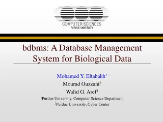 bdbms: A Database Management System for Biological Data