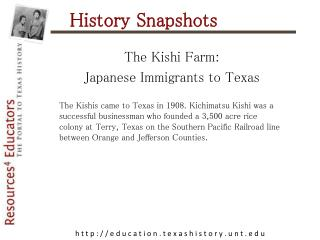 History Snapshots