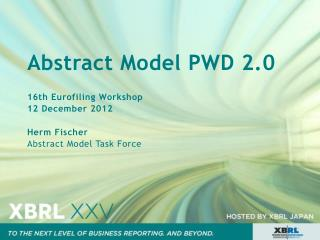 Abstract Model PWD 2.0