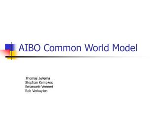 AIBO Common World Model