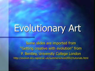 Evolutionary Art