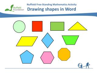 Nuffield Free-Standing Mathematics  Activity Drawing  shapes in Word