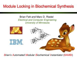 Module Locking in Biochemical Synthesis