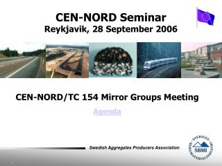 CEN-NORD/TC 154 Mirror Groups Meeting Agenda