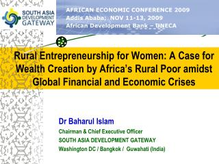 Rural Entrepreneurship for Women: A Case for Wealth Creation by Africa's Rural Poor amidst Global Financial and Economi