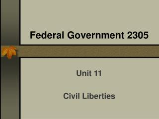 Federal Government 2305