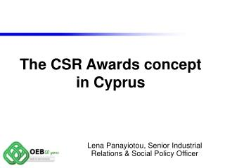 The CSR Awards concept  in Cyprus