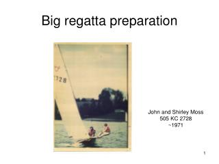Big regatta preparation