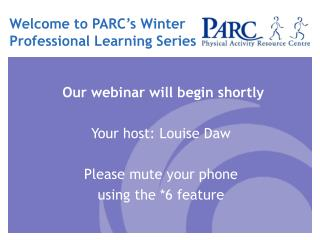 Welcome to PARC's Winter Professional Learning Series