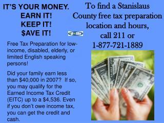 IT'S YOUR MONEY.   EARN IT! KEEP IT! $AVE IT!