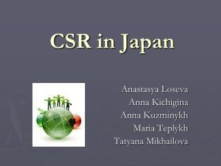 CSR in Japan