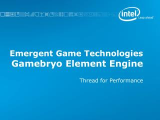Emergent Game Technologies Gamebryo Element Engine