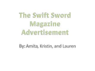 The Swift Sword Magazine  Advertisement